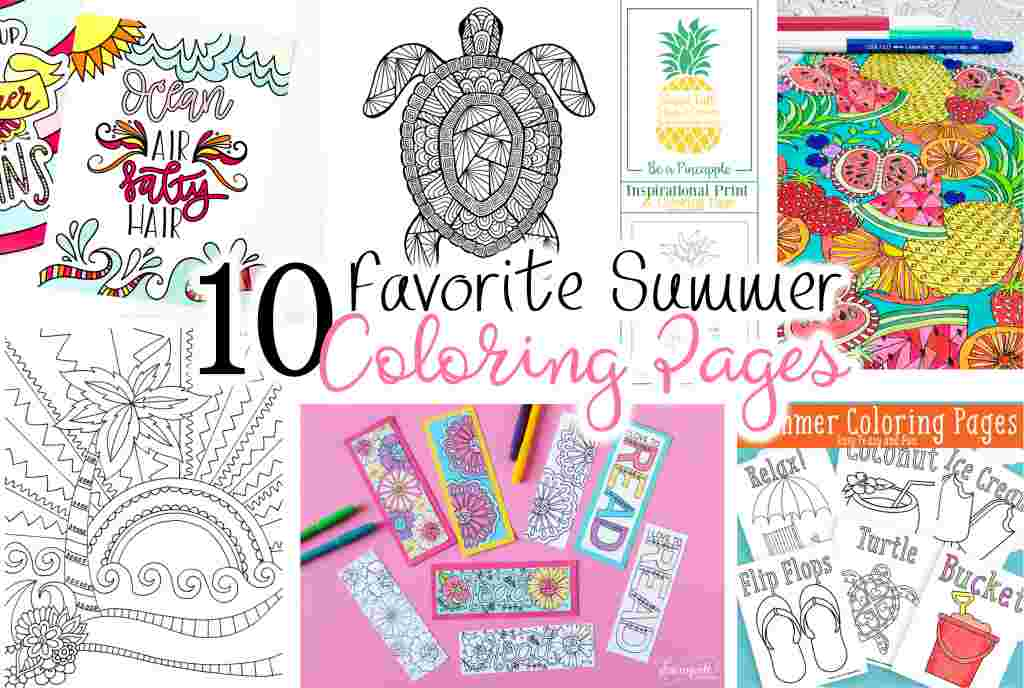 10 Favorite Summer Coloring Pages | Kelly ...